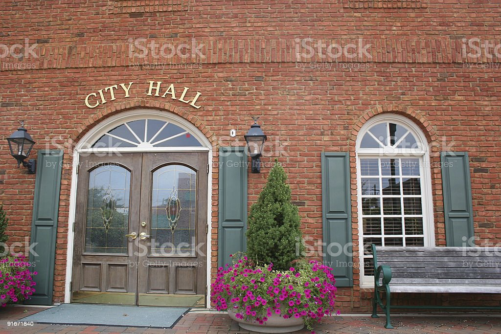 City Hall 2 stock photo