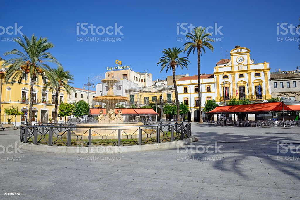 City Hall and main square of the city of Mérida. stock photo