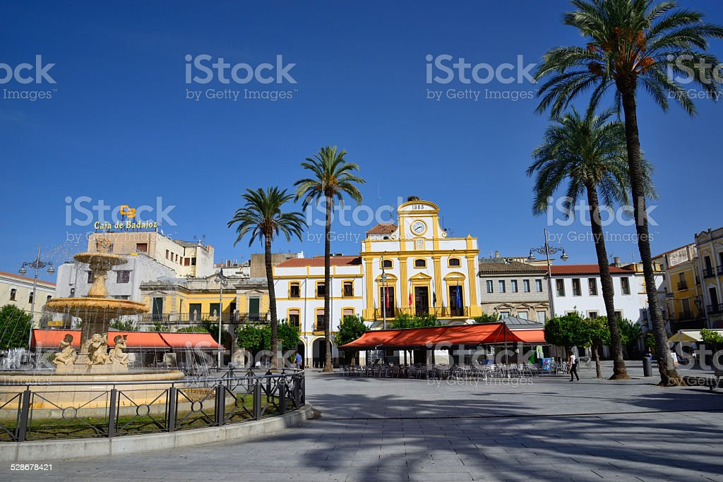 City Hall and main square of the city of M?rida. stock photo