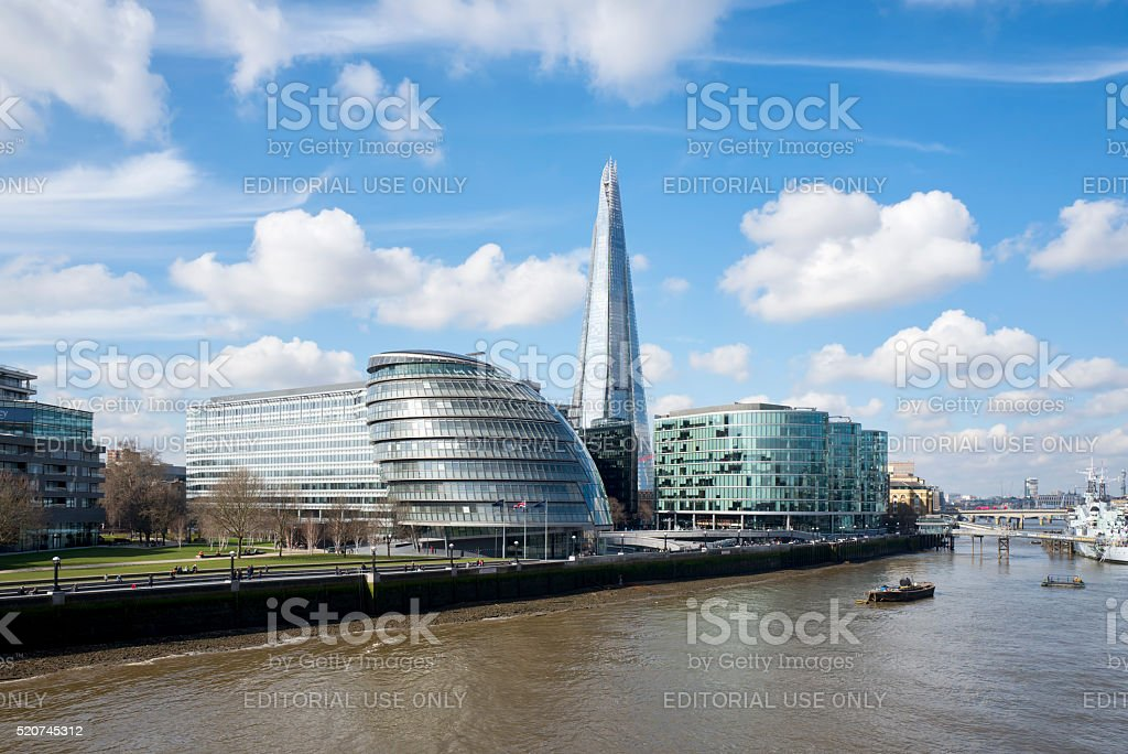 City Hall and The Shard, London stock photo