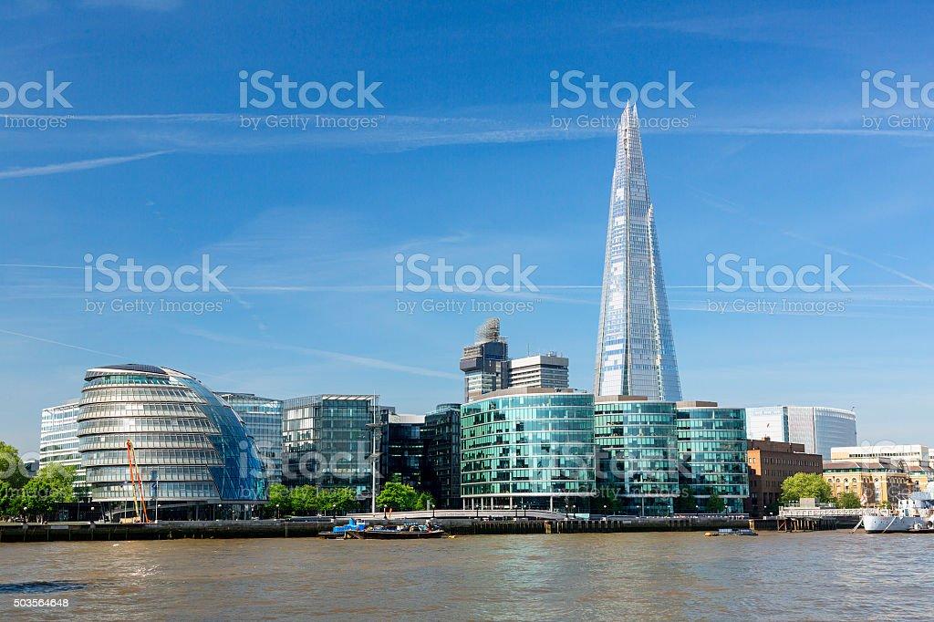 City Hall and The Shard stock photo