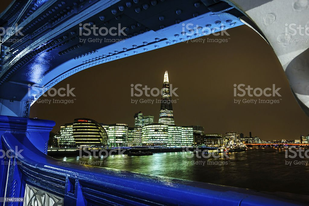 City hall and the Shard skyscraper in London royalty-free stock photo