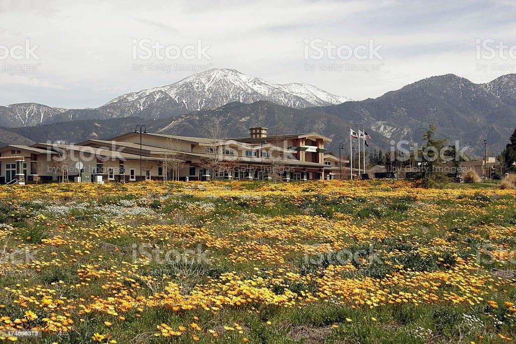 City Hall At Yucaipa California royalty-free stock photo