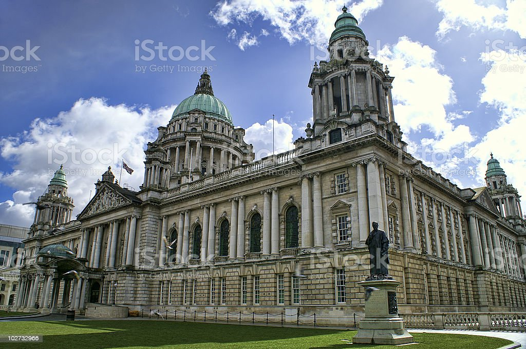 City Hall, Belfast Northern Ireland stock photo