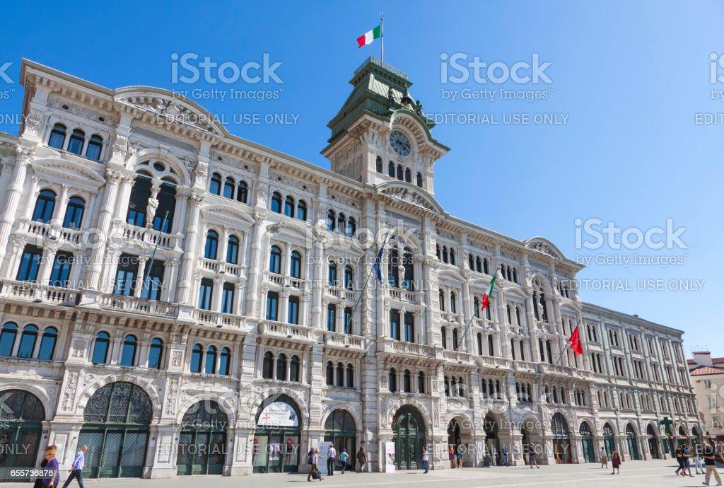 City Hall building in Trieste (Comune di Triesti) stock photo