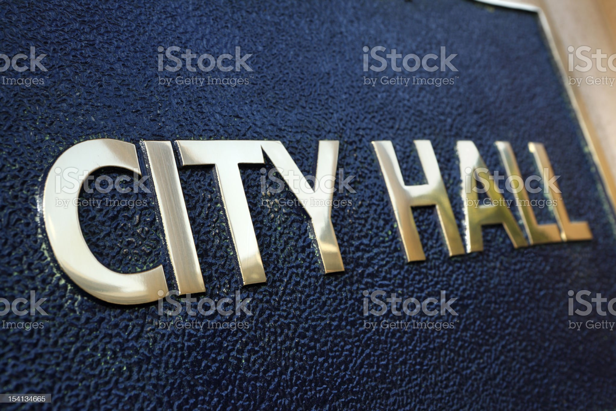 City Hall building nameplate royalty-free stock photo