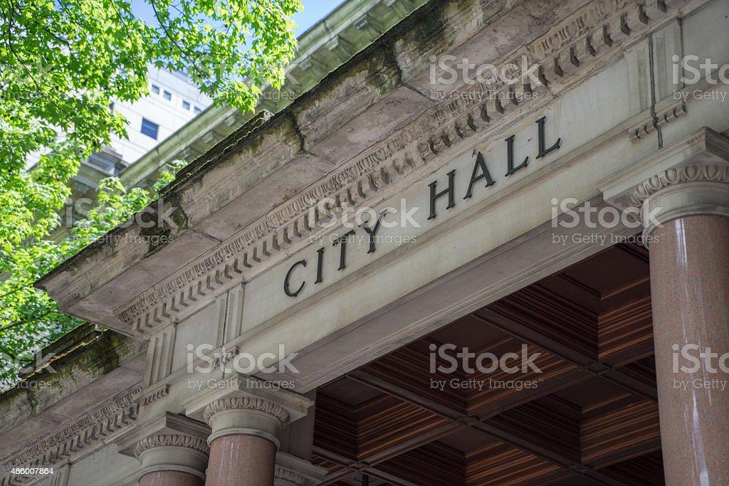 City Hall Building stock photo