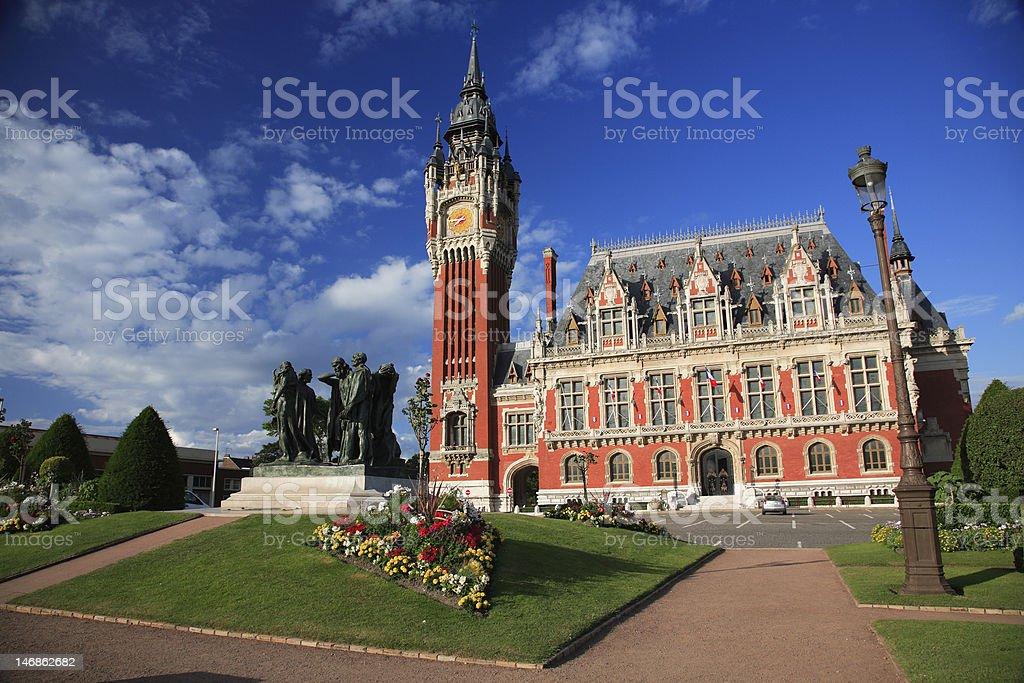Hotel de Ville, Calais stock photo