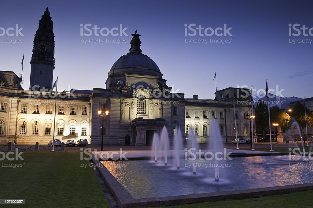 City Hall, Cardiff, UK royalty-free stock photo
