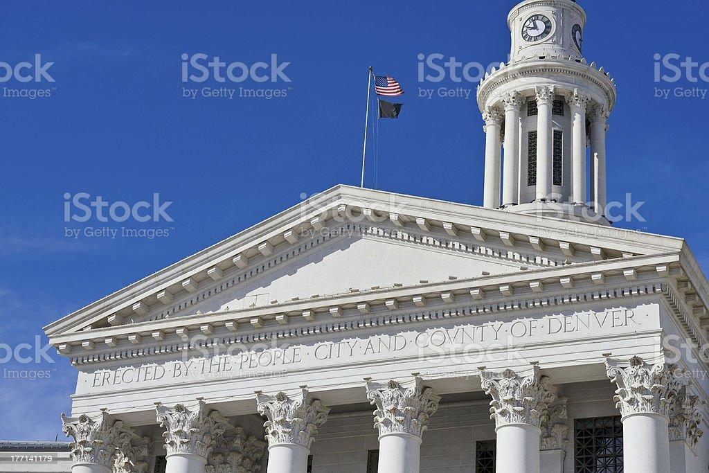 City Hall, Denver royalty-free stock photo