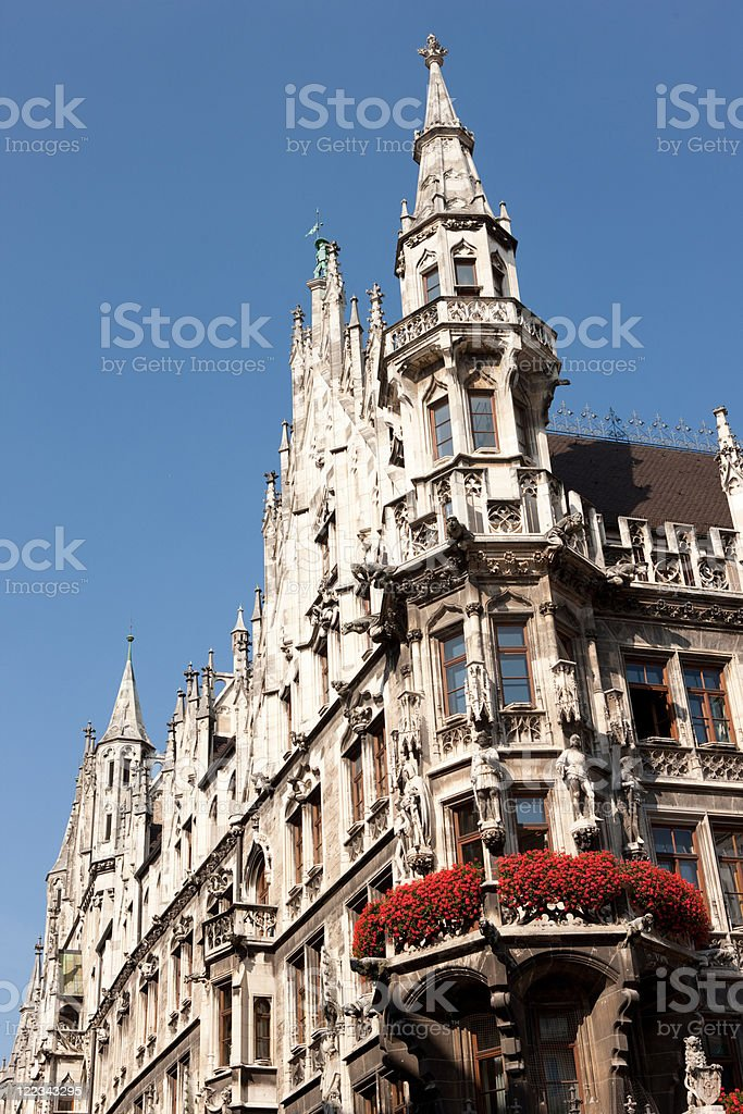 City Hall detail, Munich, Germany stock photo