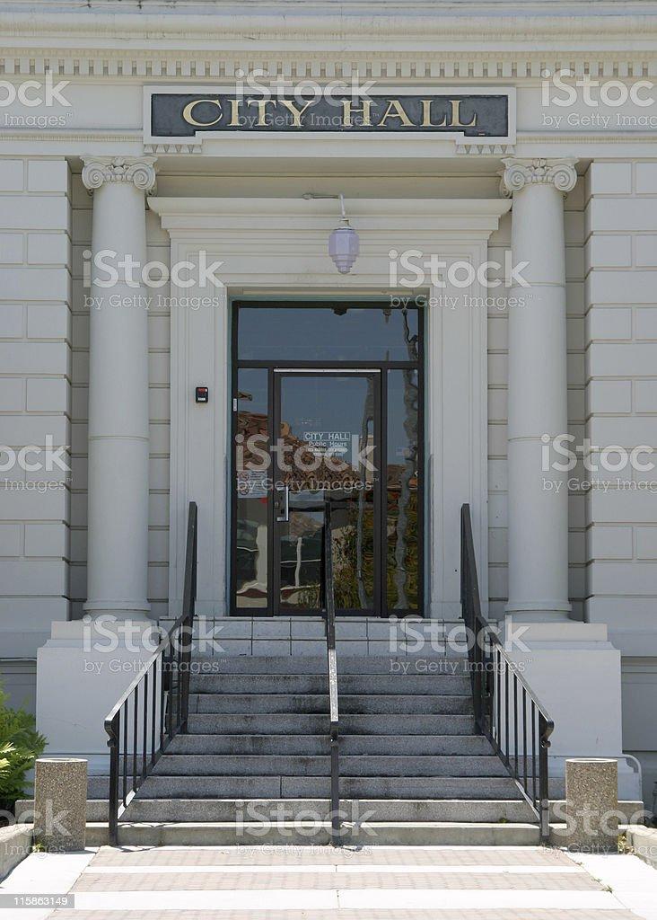 City Hall Entryway stock photo