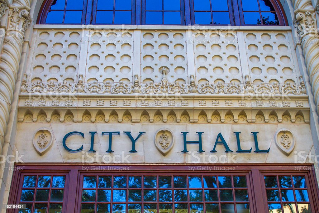City Hall Front View stock photo
