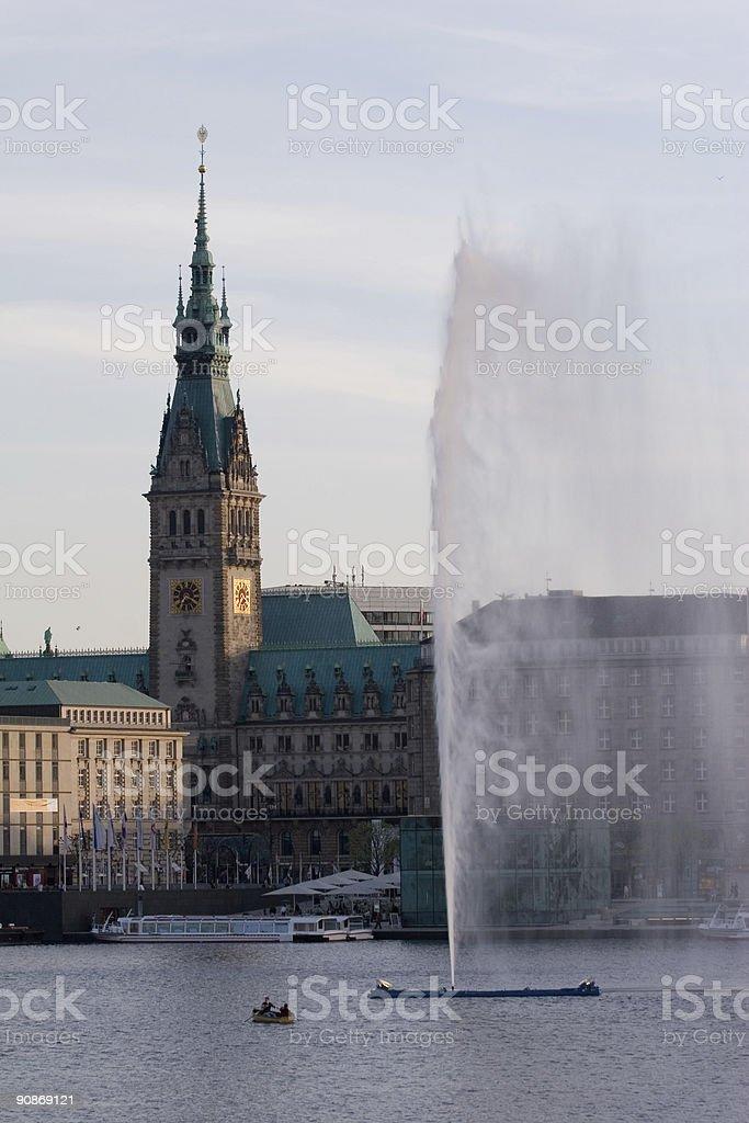City Hall Hamburg, Germany royalty-free stock photo