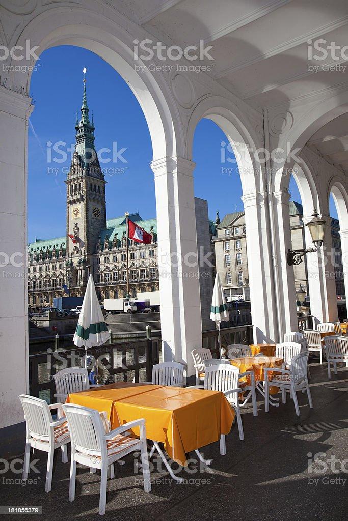 City Hall Hamburg stock photo
