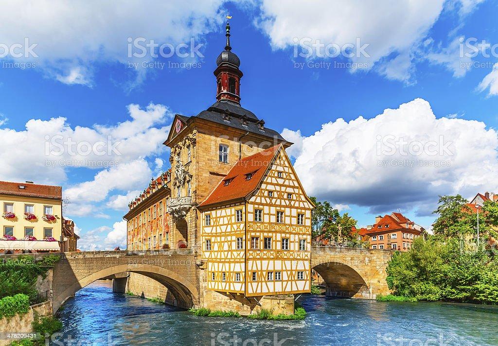 City Hall in Bamberg, Germany stock photo