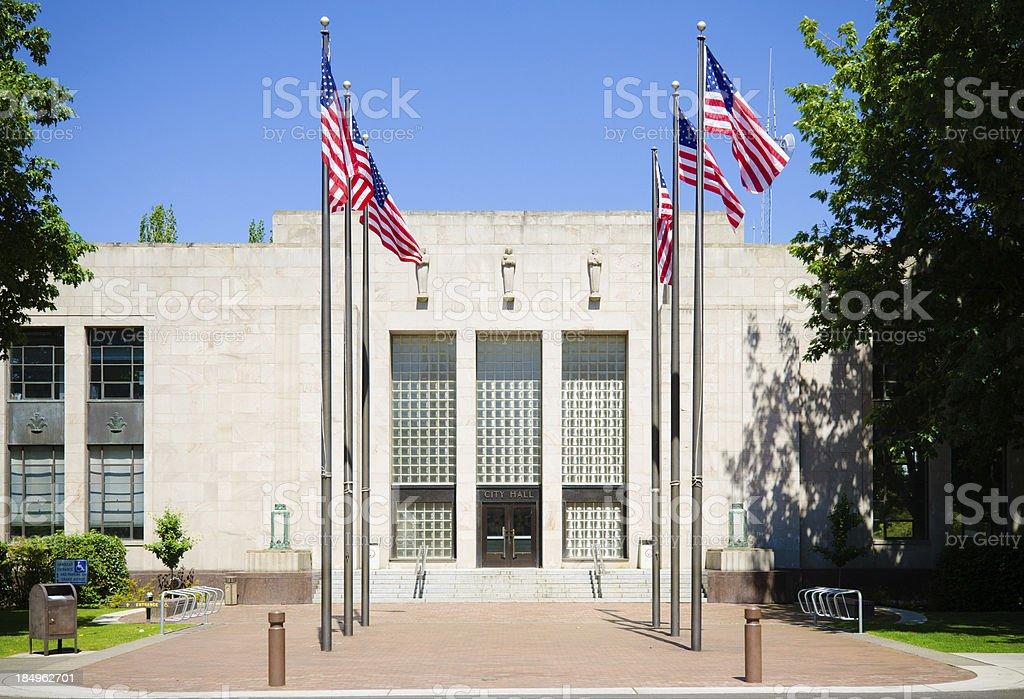 City Hall in Bellingham, WA stock photo