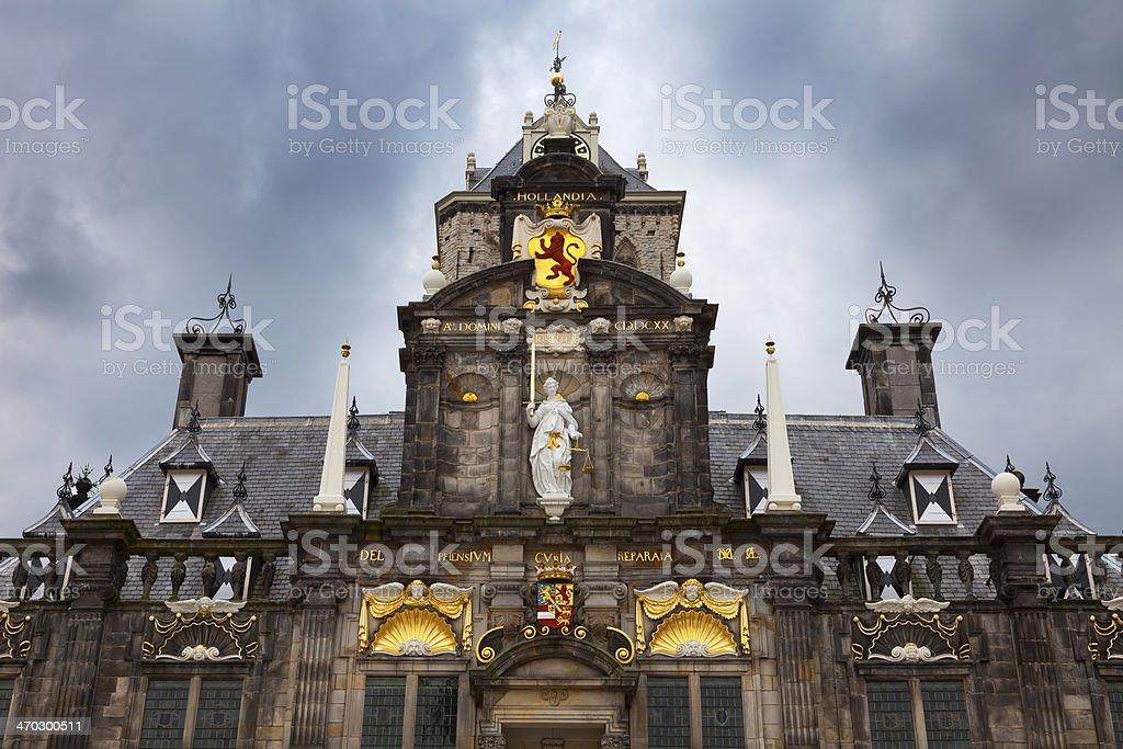 City Hall in Delft stock photo