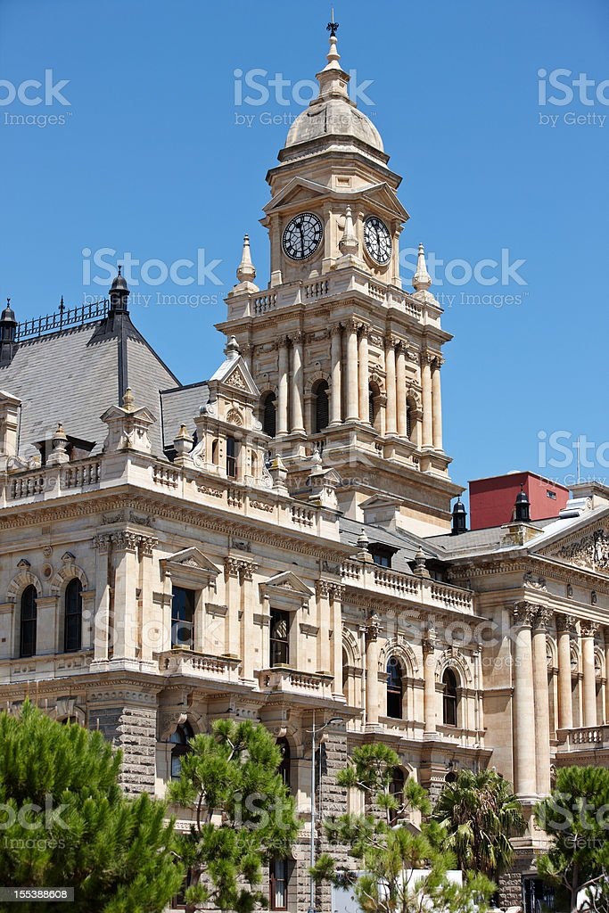 City Hall in downtown Cape Town stock photo