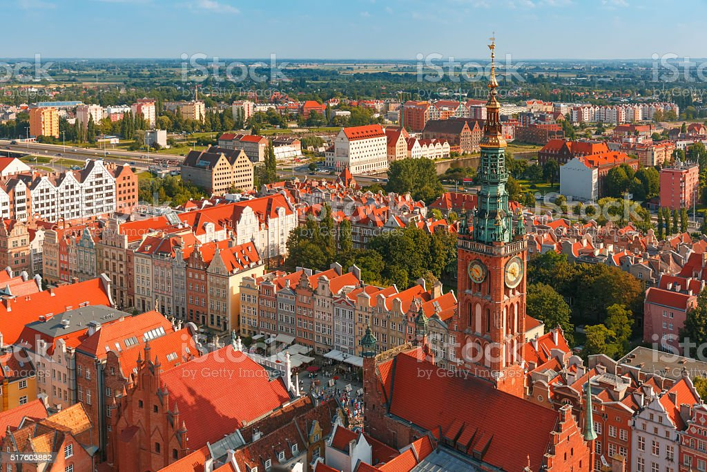 City Hall in Gdansk, Poland stock photo