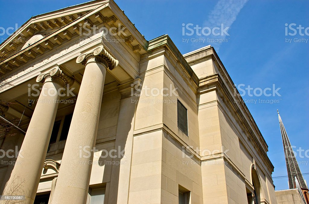 City Hall in historic 19th. century government building, Hudson NY stock photo