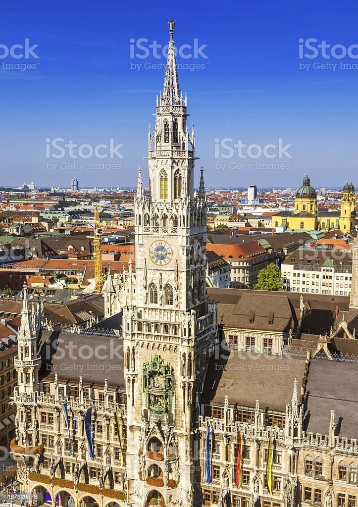 City Hall in Munich, Germany royalty-free stock photo