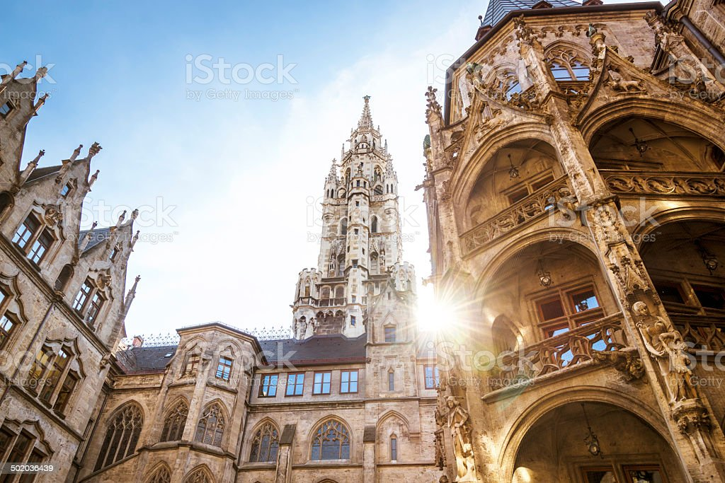 City Hall in Munich, Germany stock photo