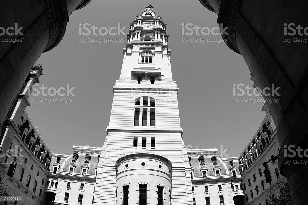 City Hall in Philadelphia royalty-free stock photo