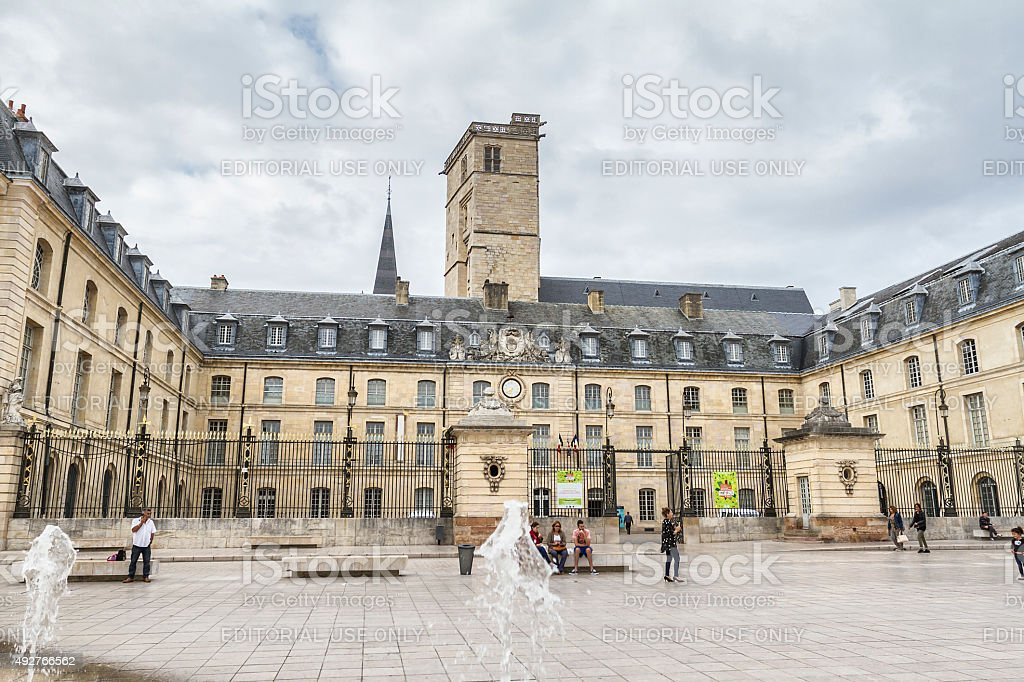 Hotel de Ville in Place de la Libération - Dijon stock photo