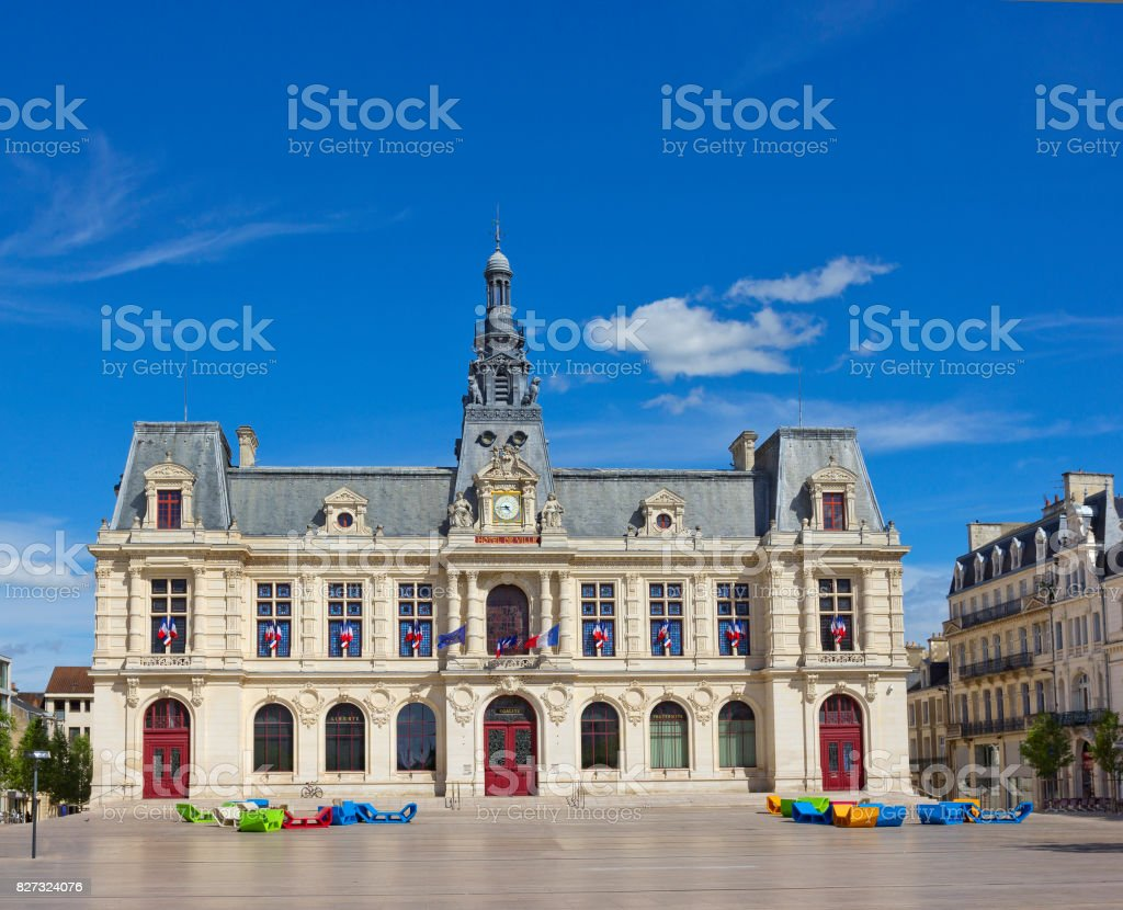 City hall in Poitiers, France stock photo