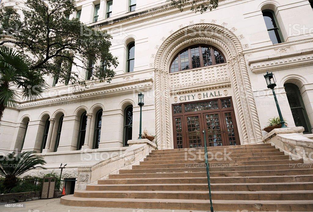 City Hall in San Antonio, TX stock photo