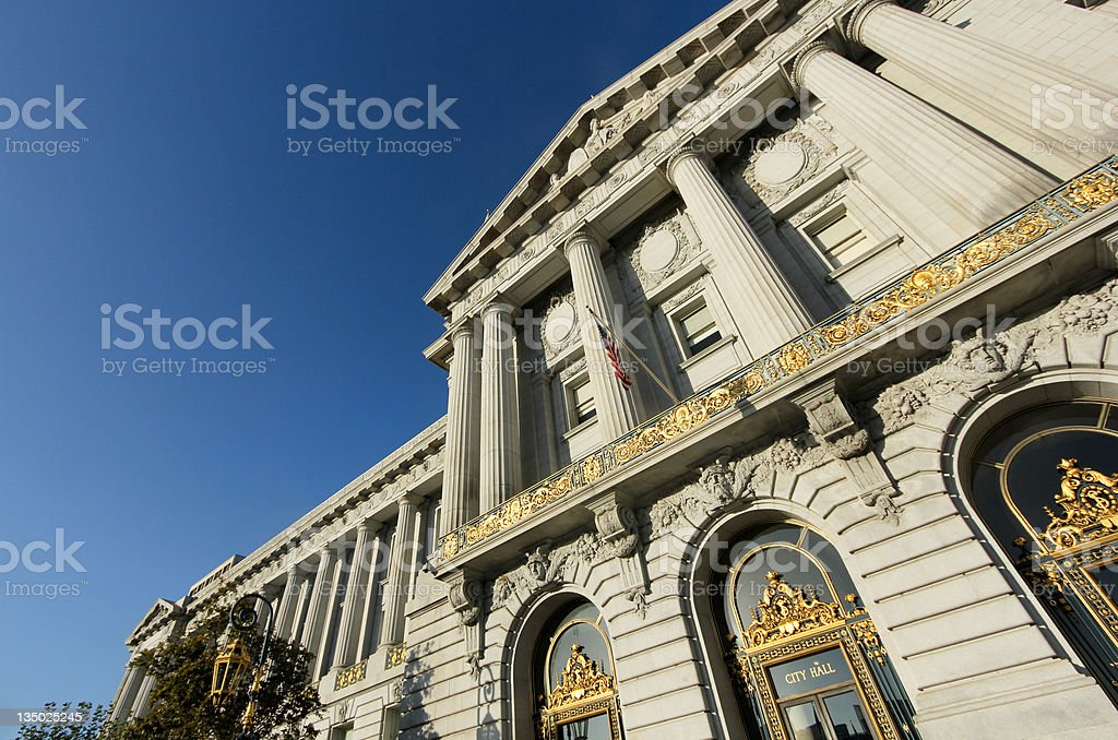 City Hall in San Francisco, California stock photo