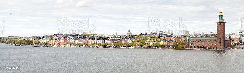 City hall in Stockholm seen from Söder stock photo