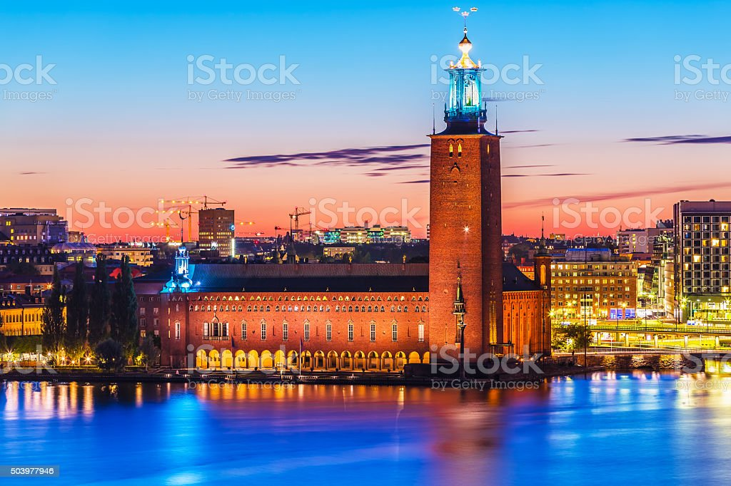City Hall in Stockholm, Sweden stock photo