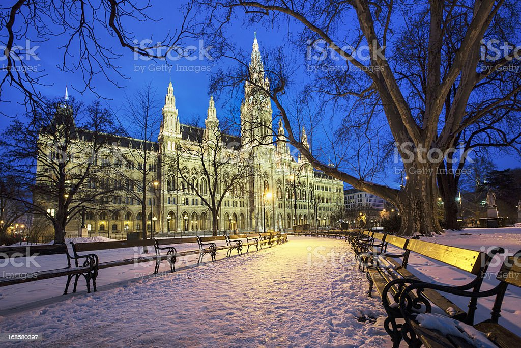 Rathaus in Vienna stock photo