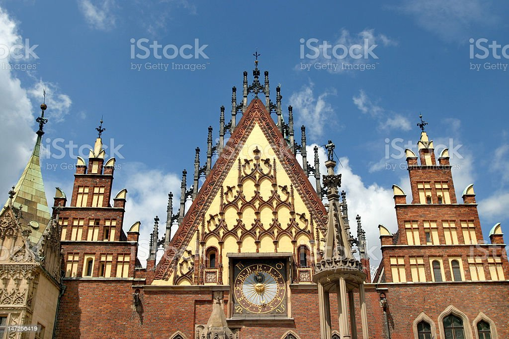 City Hall in Wroclaw (Poland) royalty-free stock photo