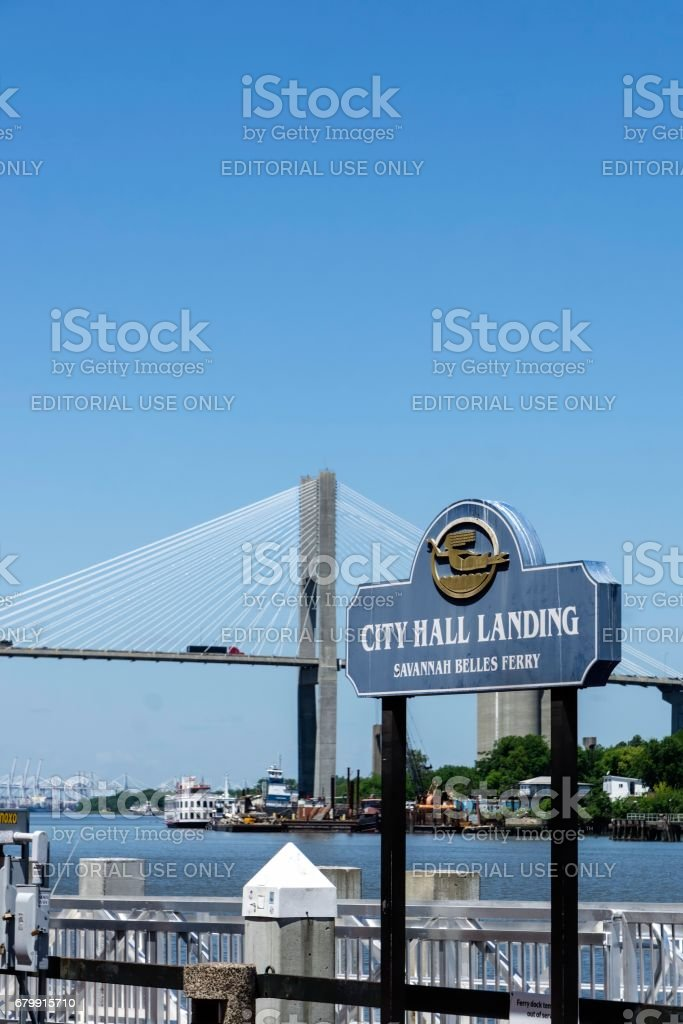 City Hall Landing, Factors Walk, Savannah, Georgia stock photo