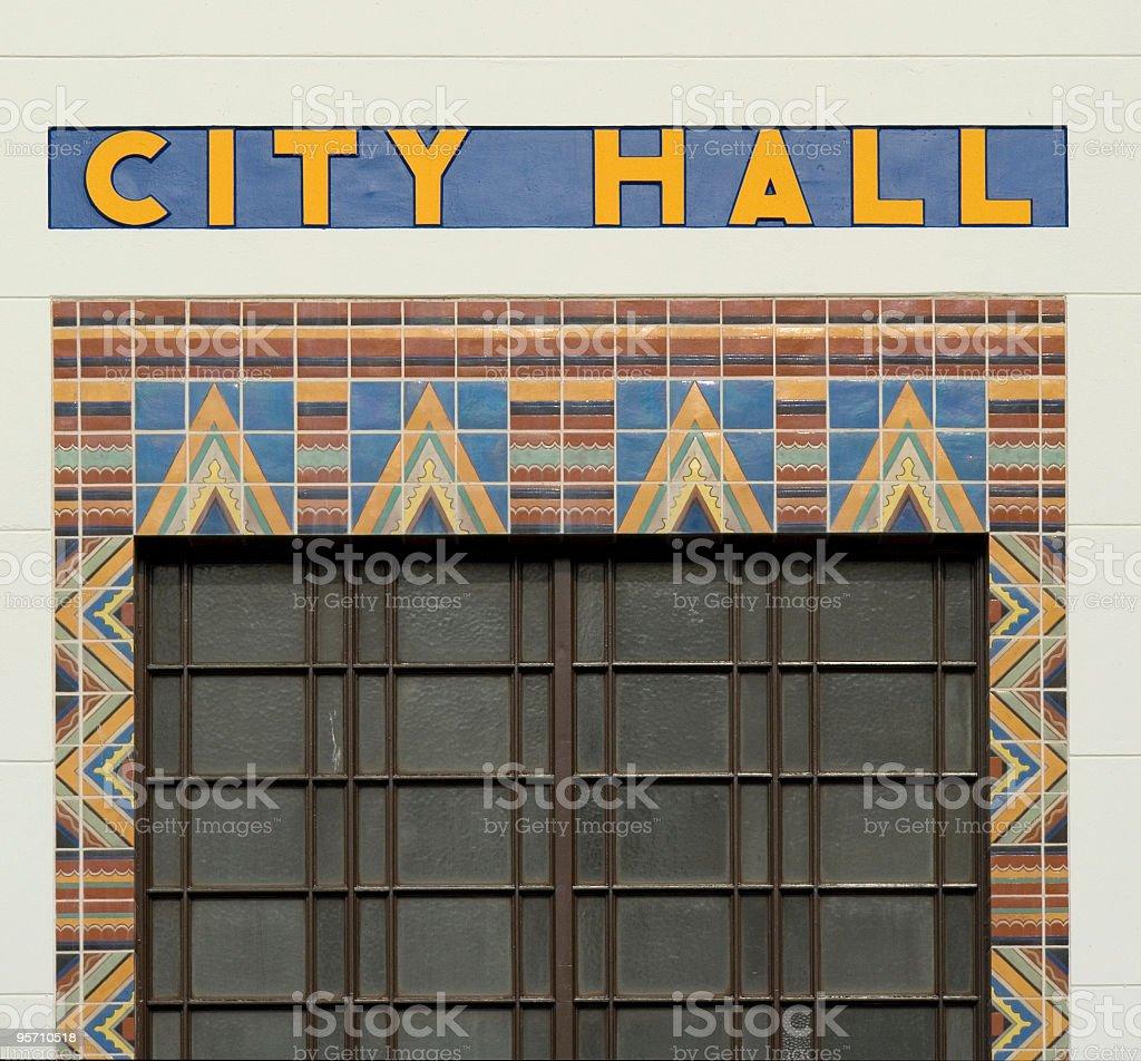 City Hall Mosaic stock photo