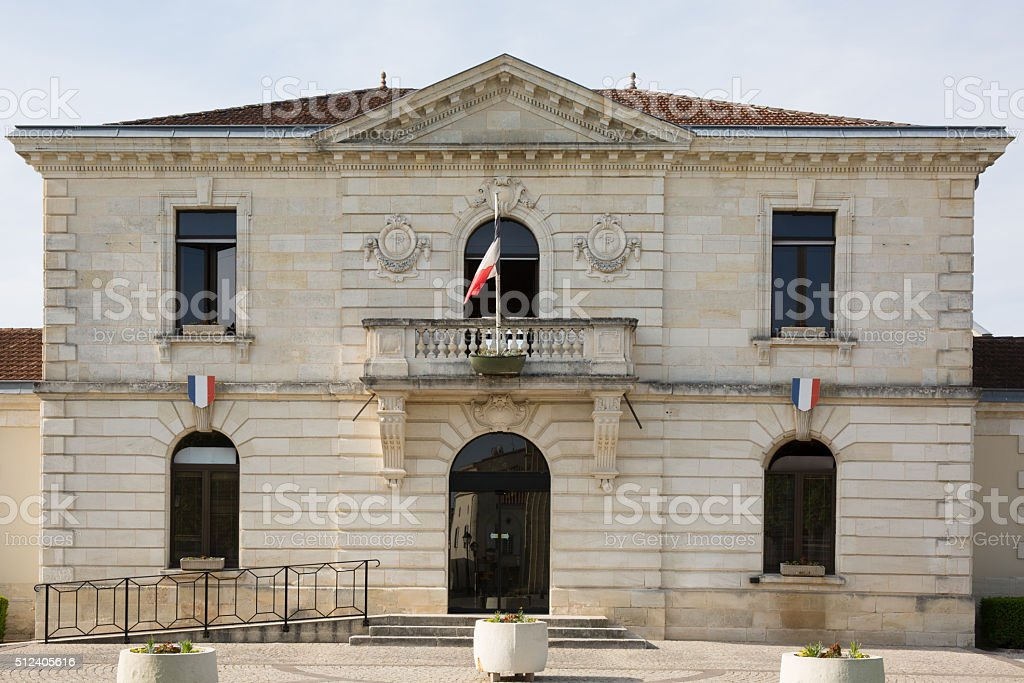 City hall of a nice town  in France stock photo