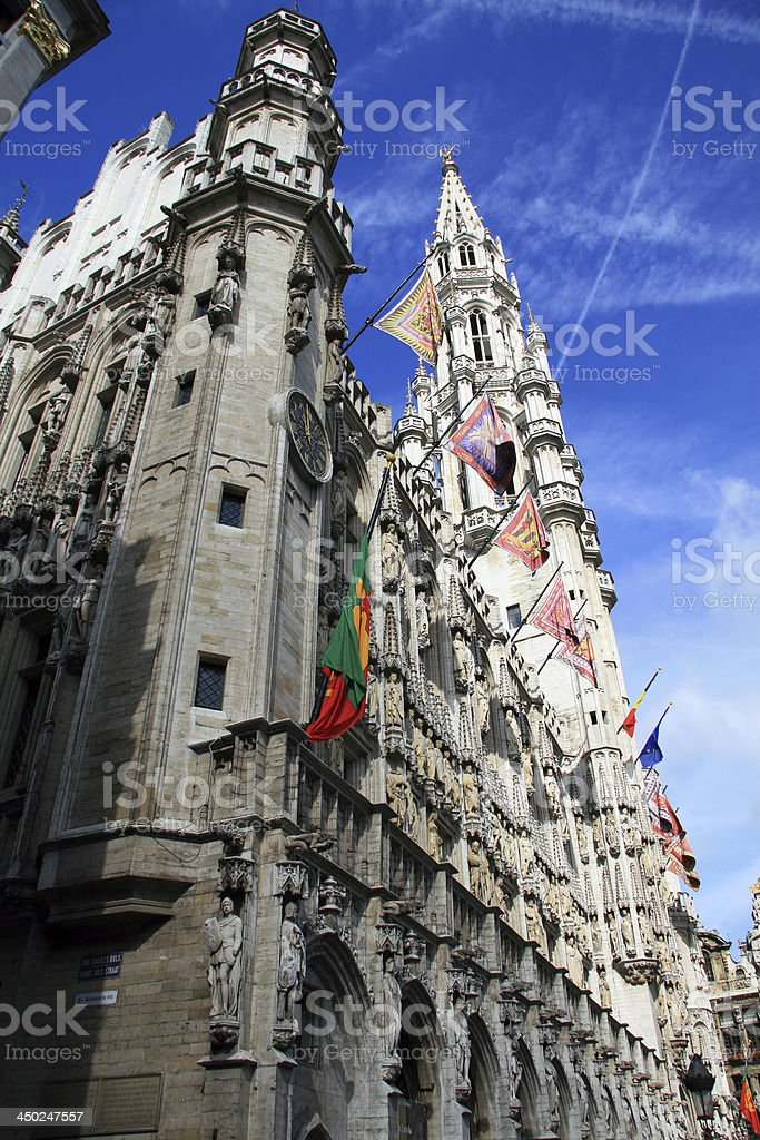 City hall of Brussels stock photo