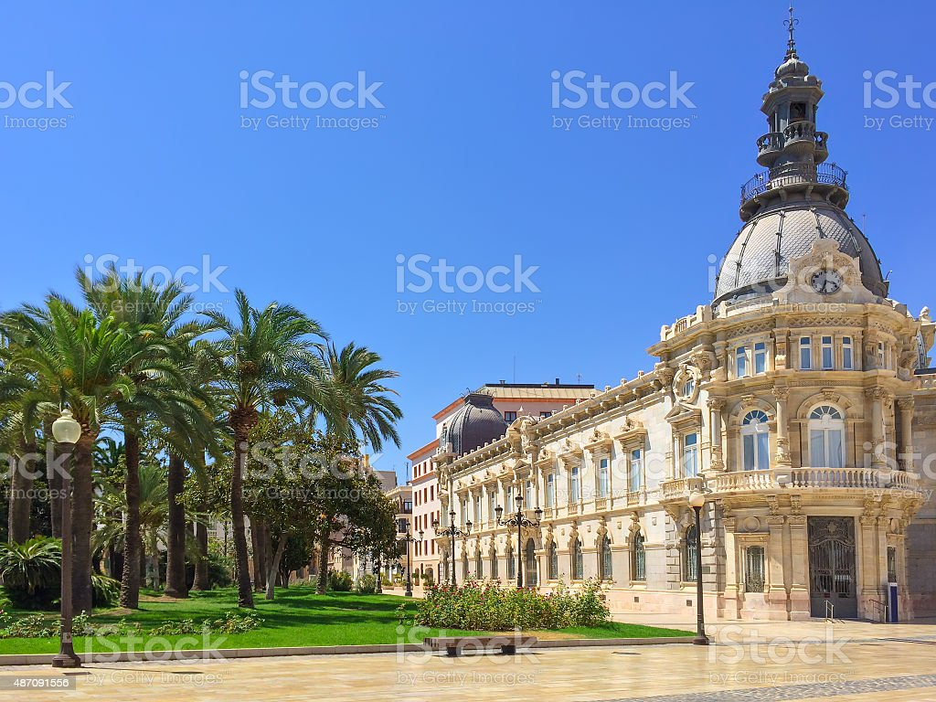 City hall of Cartagena in Spain stock photo