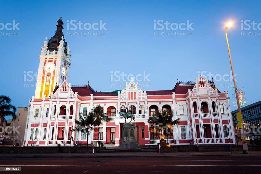 city hall of East London, South Africa stock photo