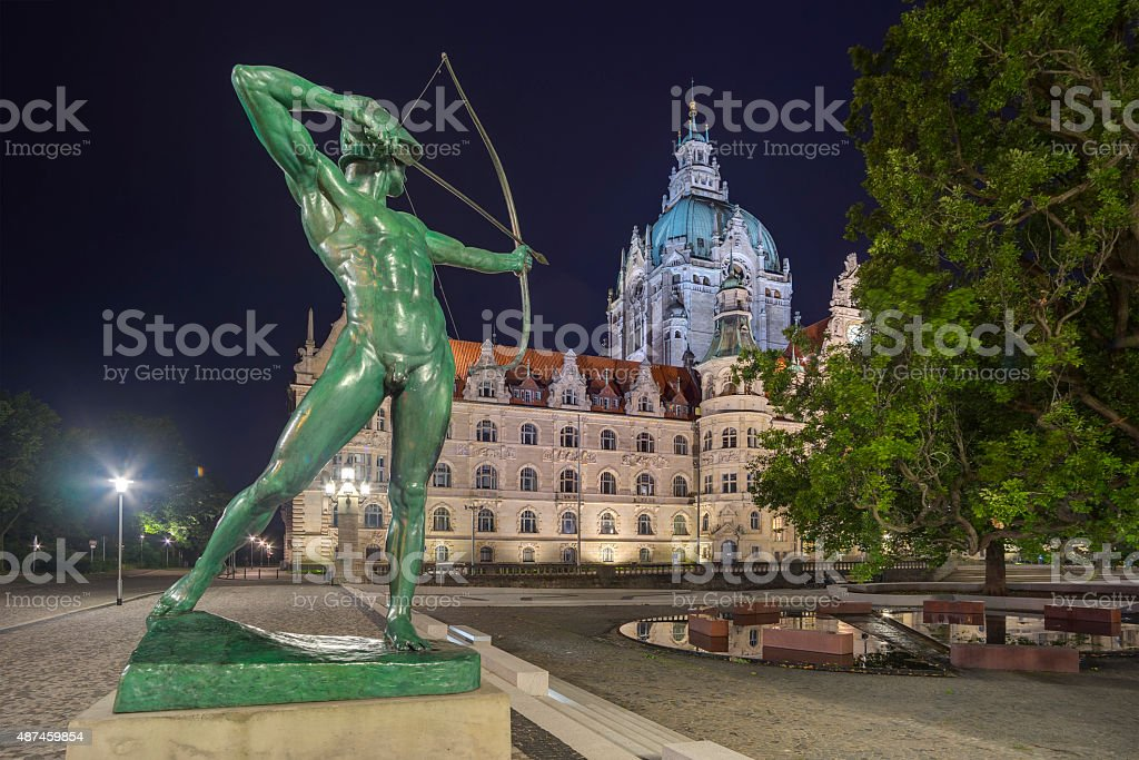 City Hall of Hannover stock photo