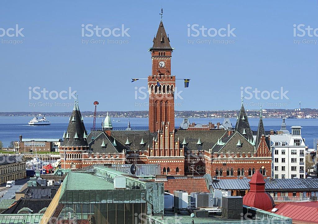 City Hall of Helsingborg, Sweden stock photo
