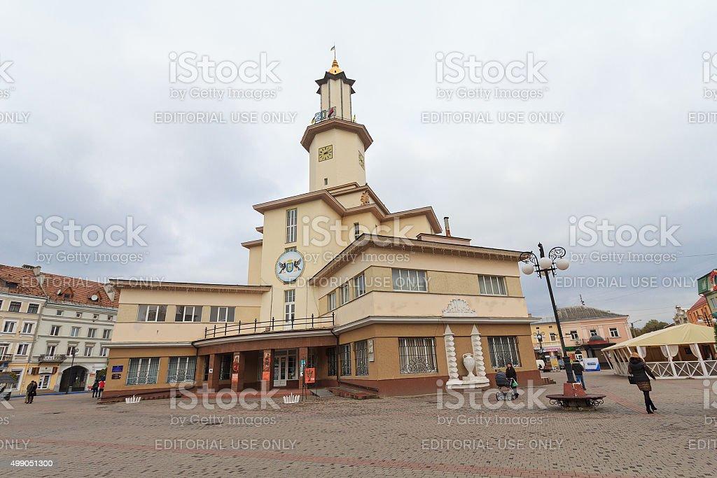 City Hall of Ivano-Frankivsk stock photo