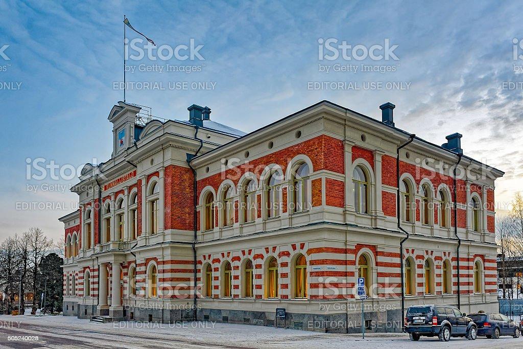 City Hall of Jyvaskyla at winter morning stock photo