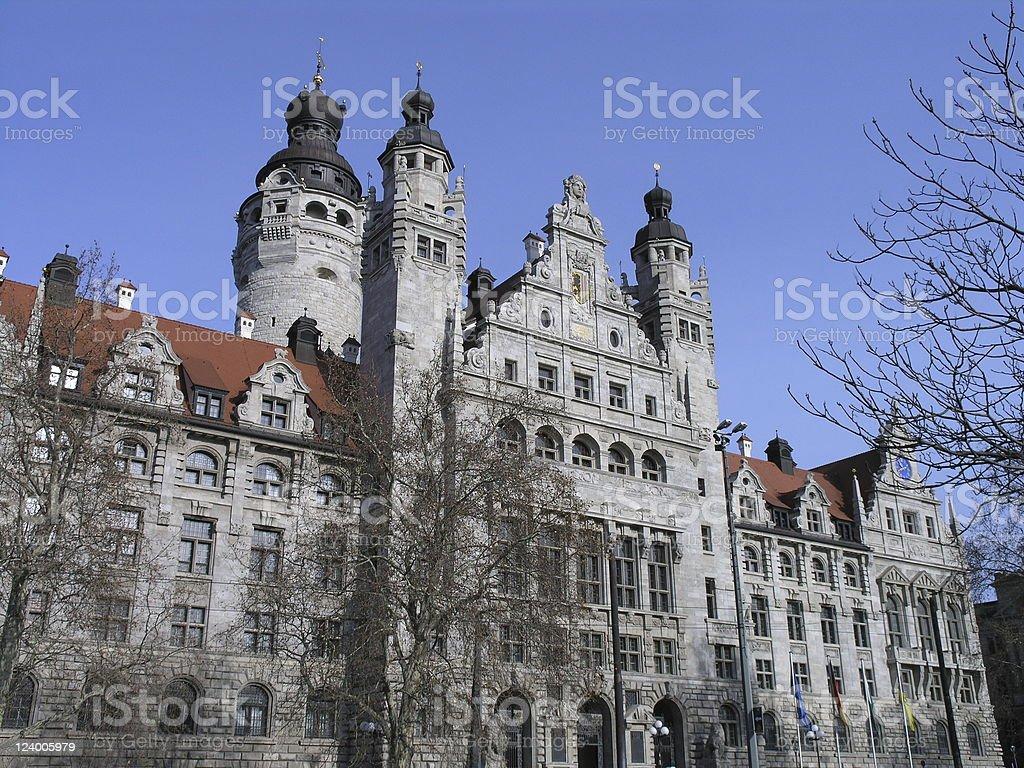 ライプチヒの市庁舎 ロイヤリティフリーストックフォト