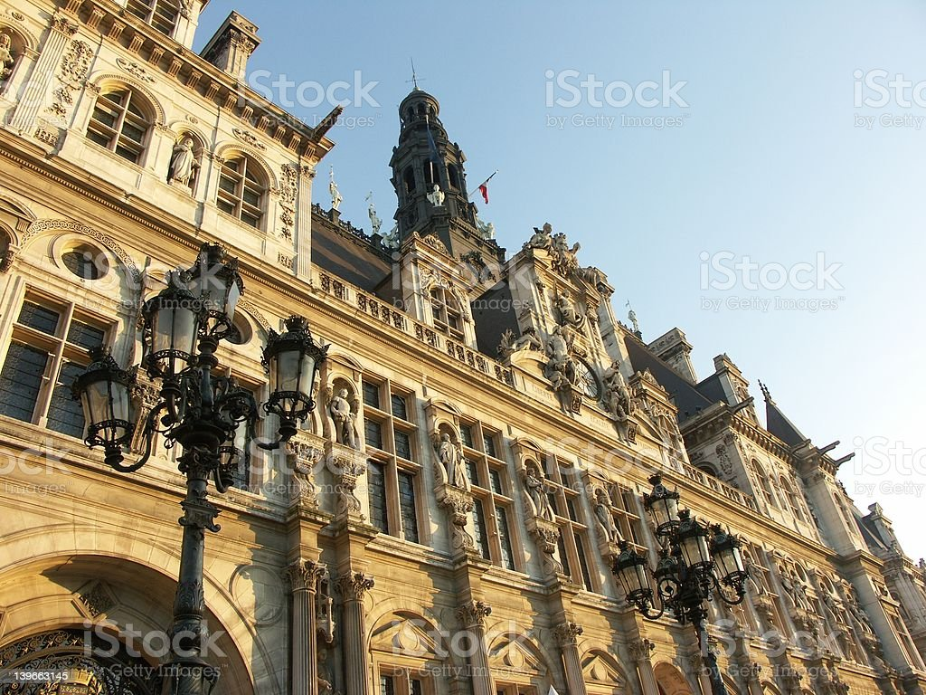 City hall of Paris - France royalty-free stock photo