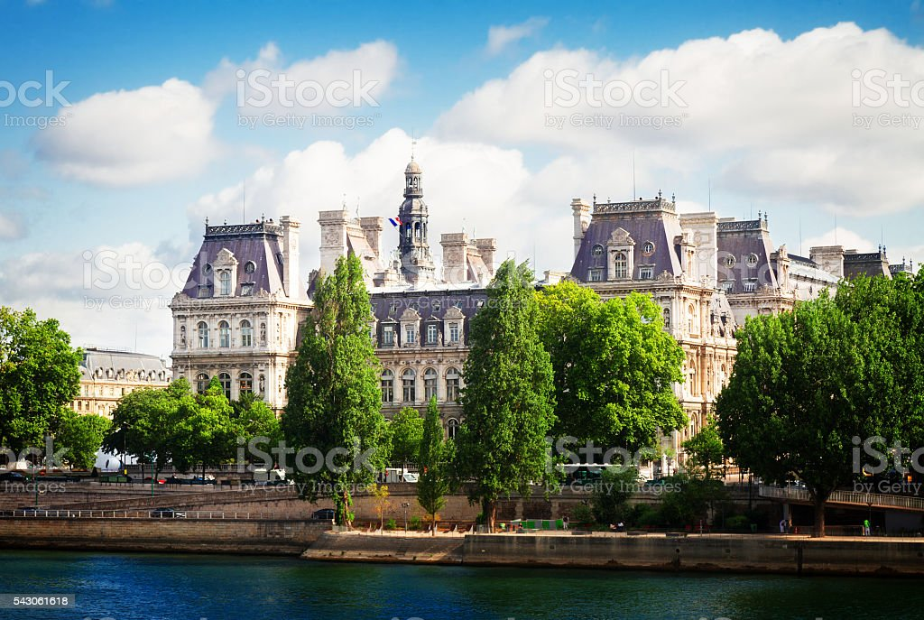 city hall of Paris, France stock photo