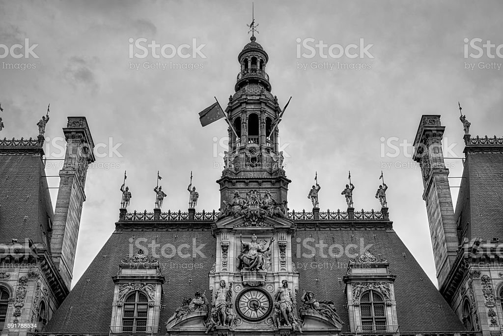 City hall of Paris - France stock photo